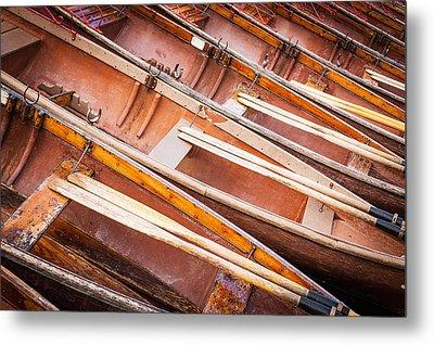 Row Boats Metal Print by Stefan Nielsen