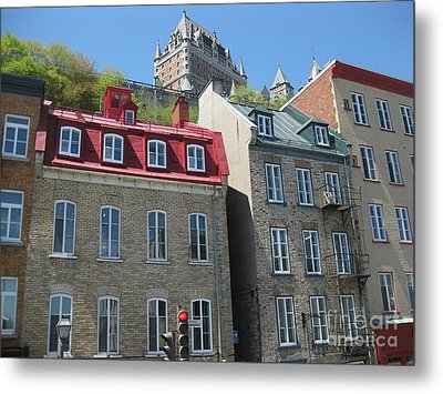 Row Houses In Quebec City Metal Print by Stella Sherman