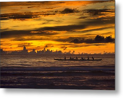 Row Metal Print by Karen Walzer