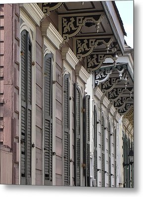 Row Of Houses Metal Print by Beth Vincent