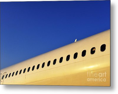Row Of Portholes By Clear Sky  Metal Print