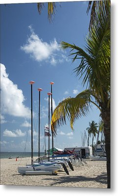 Row Of Sailboats Metal Print by Bob Pardue