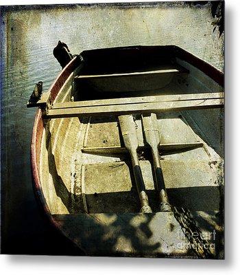 Rowboat Metal Print by Bernard Jaubert