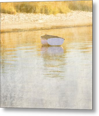 Rowboat In The Summer Sun Metal Print by Carol Leigh