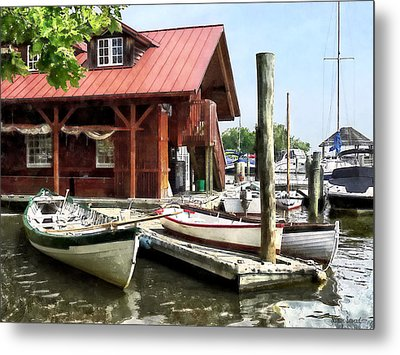 Alexandria Va - Rowboats By Founders Park Metal Print