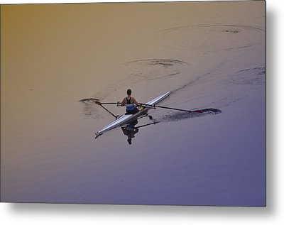 Rower Metal Print by Bill Cannon