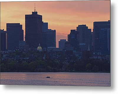 Rowing Boston Metal Print by Juergen Roth
