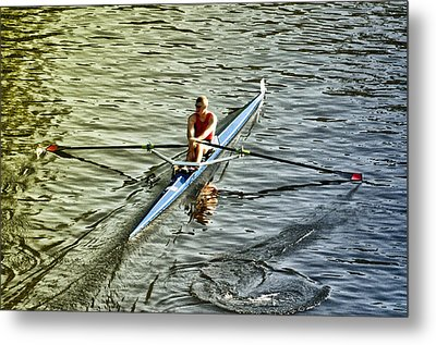 Rowing Crew Metal Print by Bill Cannon