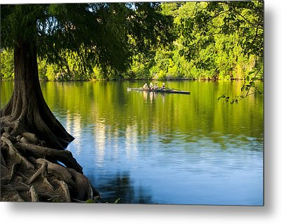 Rowing Past Red Bud Island Metal Print