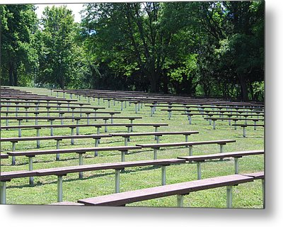 Metal Print featuring the photograph Rows And Rows Of Seats by Ramona Whiteaker