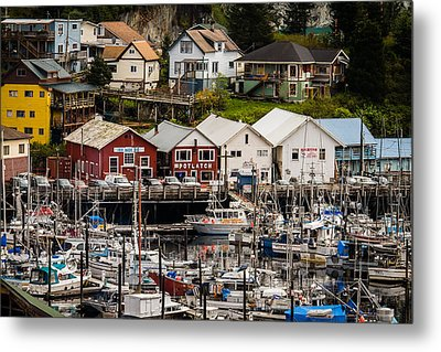 Rows Of Houses And Sails Metal Print