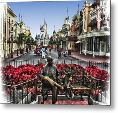 Roy And Minnie Mouse Walt Disney World Metal Print