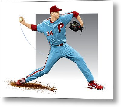 Roy Halladay Metal Print by Scott Weigner