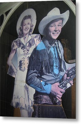 Roy Rogers And Dale Evans #2 Cut-outs Tombstone Arizona 2004 Metal Print by David Lee Guss