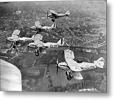 Royal Air Force Formation Metal Print by Underwood Archives