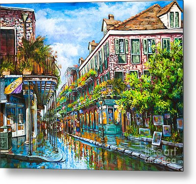 Royal At Pere Antoine Alley, New Orleans French Quarter Metal Print by Dianne Parks