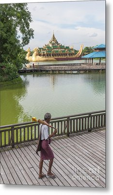 Royal Barge In Yangon Myanmar  Metal Print