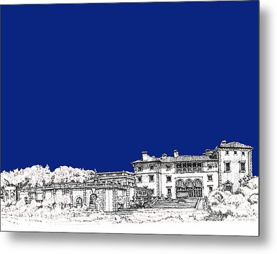 Royal Blue Vizcaya In Miami Metal Print by Building  Art