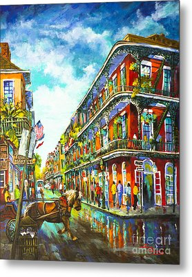 Metal Print featuring the painting Royal Carriage - New Orleans French Quarter by Dianne Parks