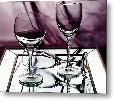 Royal Glass Metal Print by Camille Lopez