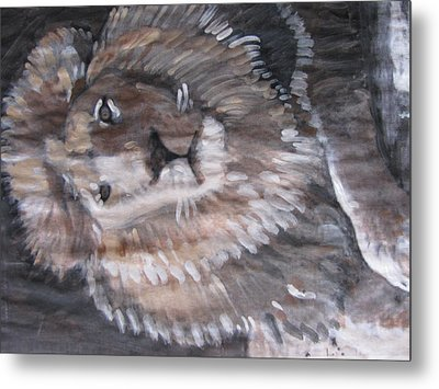 Metal Print featuring the painting Royal Lion by Vikram Singh