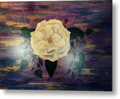 Royal Majestic Magnolia Metal Print by Joetta Beauford