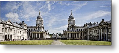 Royal Naval College Courtyard Metal Print by Heather Applegate