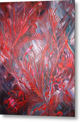 Metal Print featuring the painting Royal by Nico Bielow