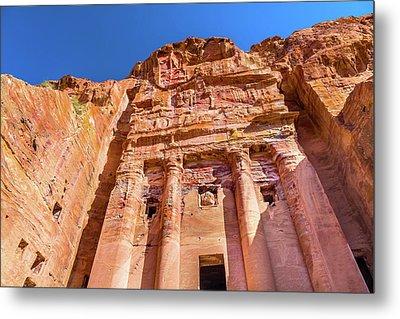 Royal Rock Tomb Arch Petra Jordan Metal Print