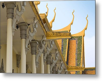Royal Roof Cambodia Metal Print by Bill Mock