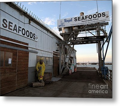 Metal Print featuring the photograph Royal Seafoods Monterey by James B Toy