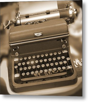 Royal Typewriter Metal Print