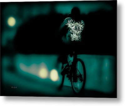 Royalty On A Bicycle  Metal Print