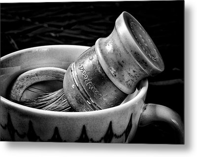 Roy's Shaving Mug I Metal Print by Jeff Burton