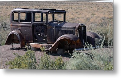 Metal Print featuring the photograph Rt 66 And Nowhere To Go by Debby Pueschel
