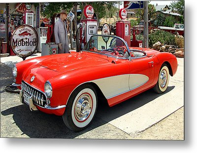 Rt. 66 Corvette Metal Print