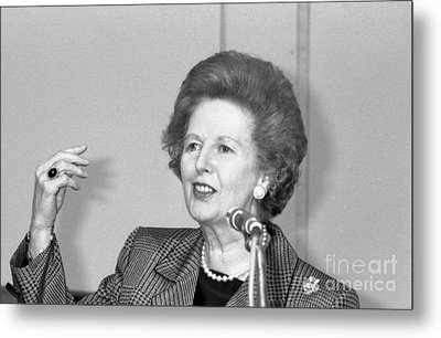 Rt.hon. Margaret Thatcher Metal Print