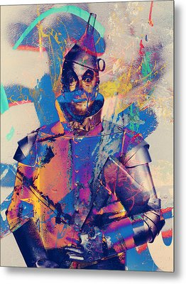Rubber Tin Man  Metal Print by Jerry Cordeiro