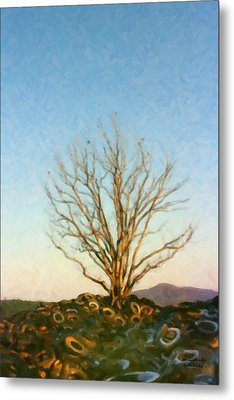 Rubber Tree Metal Print by Spyder Webb