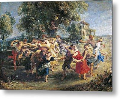 Rubens, Peter Paul 1577-1640. A Peasant Metal Print by Everett
