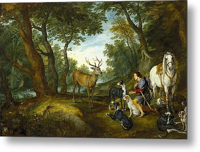Rubens, Peter Paul 1577-1640 Breugel Metal Print by Everett
