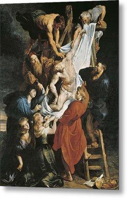 Rubens, Peter Paul 1577-1640. Descent Metal Print by Everett