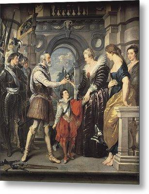 Rubens, Peter Paul 1577-1640. Henri Iv Metal Print