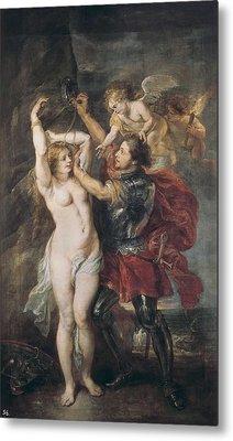 Rubens, Peter Paul 1577-1640. Perseus Metal Print by Everett