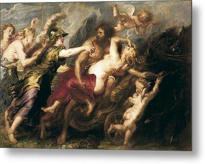 Rubens, Peter Paul 1577-1640. The Rape Metal Print by Everett