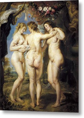Rubens, Peter Paul 1577-1640. The Three Metal Print by Everett
