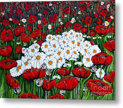 Rubies And Pearls Metal Print by Jackie Carpenter