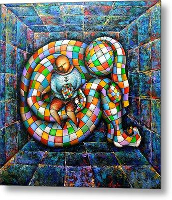 Rubik's Cube Metal Print