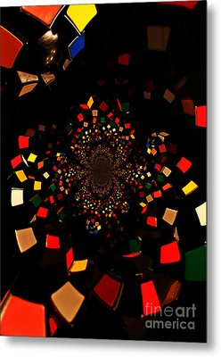 Rubik's Explosion Metal Print by Scott Allison