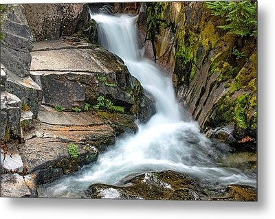 Ruby Falls Mount Rainier National Park Metal Print by Bob Noble Photography